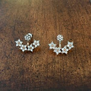 FREE w other purchase   2pc rose gold earrings